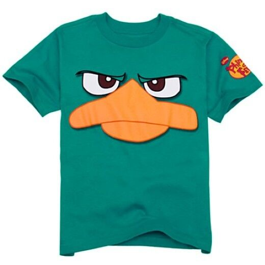 NWT Disney Store Phineas and Ferb Perry Platypus Tee Agent P T-Shirt NEW Boys