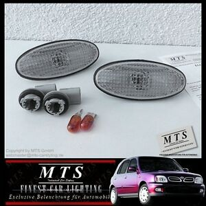 WEISSE-Seitenblinker-Nissan-Micra-K11-Almera-N16-Tino-V10-100NX-B13-200SX-S14