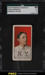 1909-11 T206 Al Bridwell PORTRAIT, NO CAP SOVEREIGN SGC 3 VG
