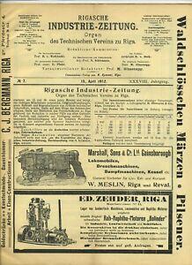 1912-Rigasche-Industrie-Zeitung-Organ-des-Technischen-Vereins-zu-Riga