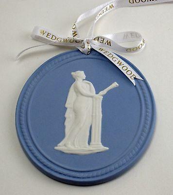 s WEDGWOOD BLUE JASPERWARE MUSE OVAL 2013 ANNUAL ORNAMENT NEW IN BOX