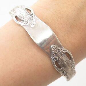Vintage-925-Sterling-Silver-Spoon-Cuff-Bracelet-6-5-034