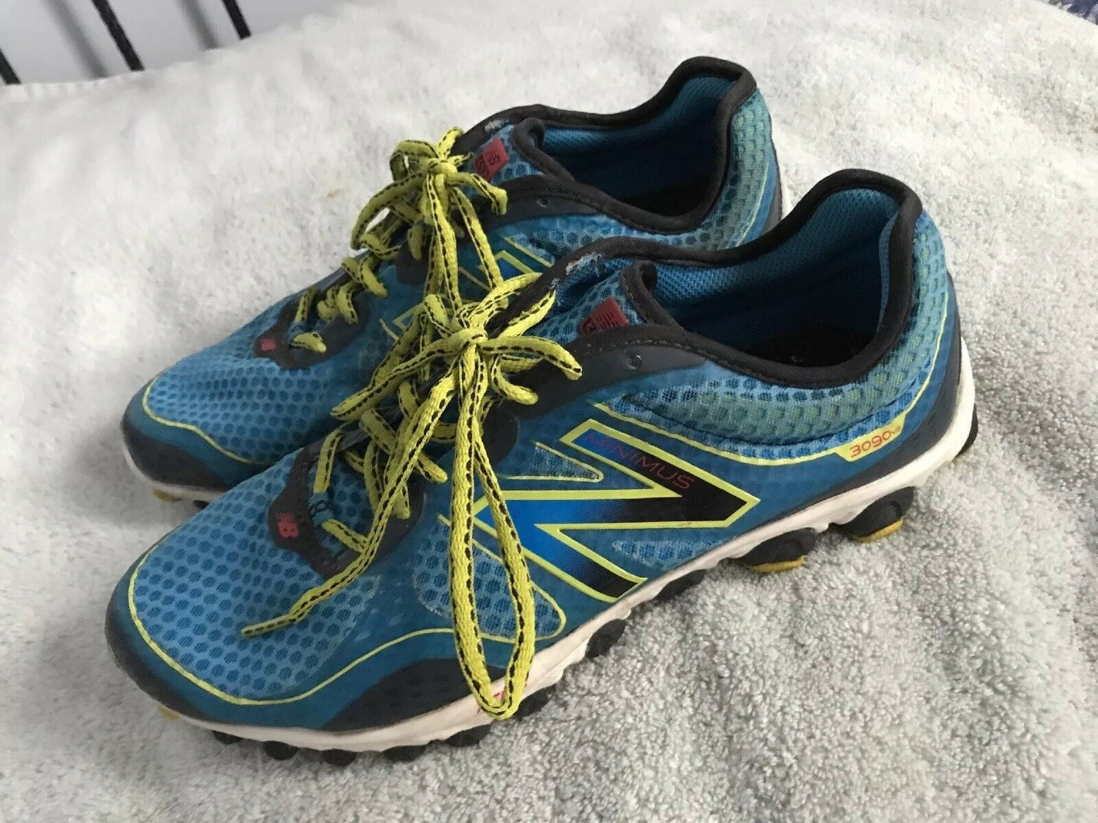 MENS NEW BALANCE MINIMUS 3090 V2 RUNNING SHOES SIZE 10.5 blueE SC8