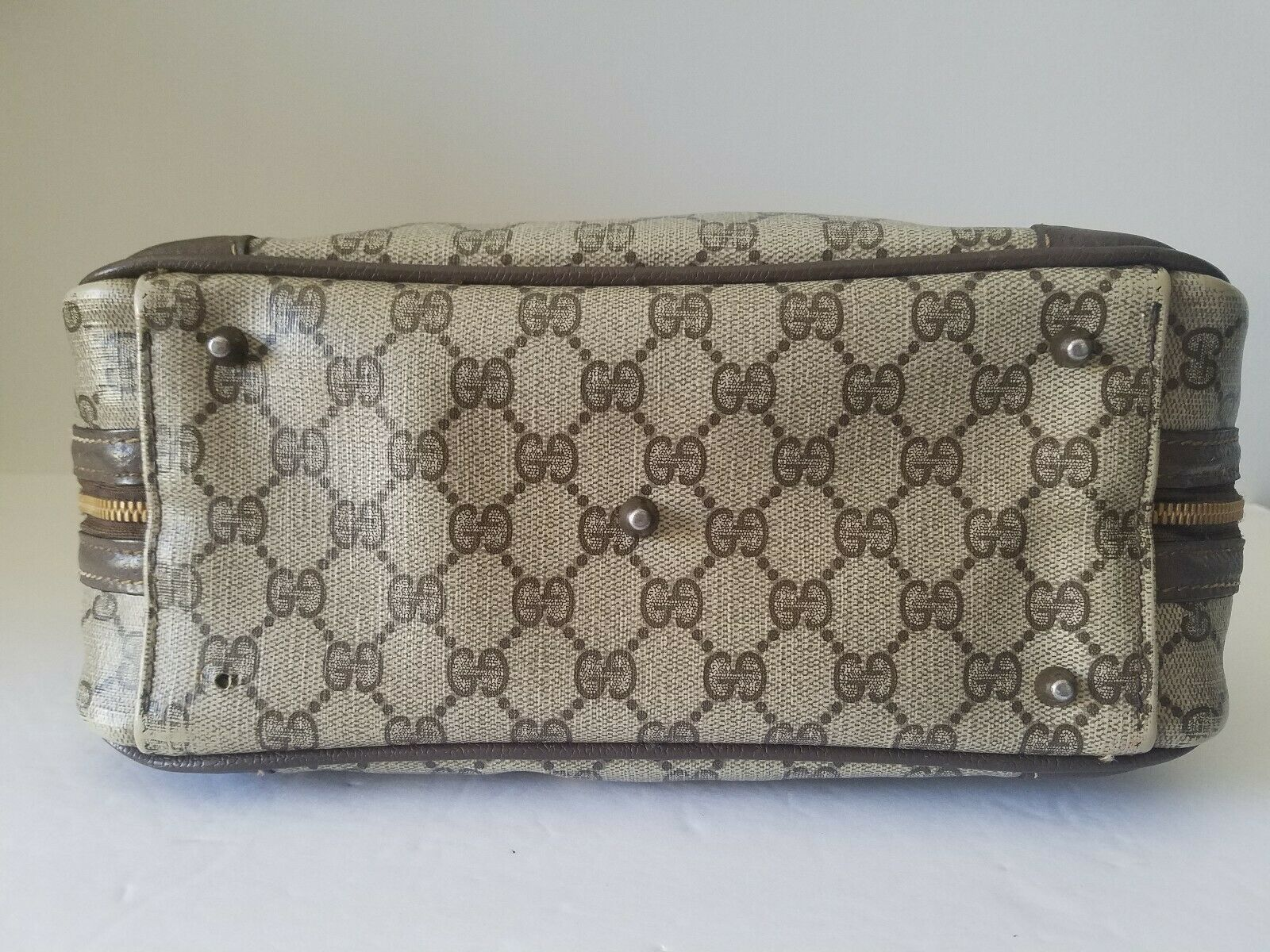 AUTHENTIC GUCCI GG MONOGRAM LEATHER/PVC DOCTOR BA… - image 6
