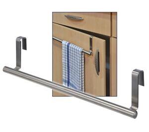 Edelstahl-Kuechen-Handtuch-Halter-Handtuchhalter-zum-Einhaengen-an-Schranktueren