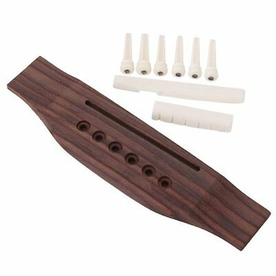 6 string rosewood bridge bone saddle nut 6pcs end pins for acoustic guitar 8418701049266 ebay. Black Bedroom Furniture Sets. Home Design Ideas