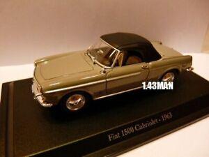 IT53M-Voiture-1-43-Hachette-NOREV-FIAT-1500-Cabriolet-1963
