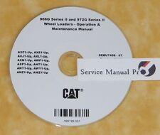 SEBU7458 CAT Caterpillar 966G 972G Wheel Loaders Operation Maintenance Manual CD