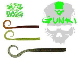 Plastico-Suave-Pesca-Senuelo-15Pcs-Gunki-C-039-Anguila-Gusano-Jig-Cabezas-Angulada