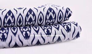 Indian-Natural-Cotton-Screen-Print-Ikat-Fabric-Jaipuri-Ethnic-Fabric-2-5-Yard