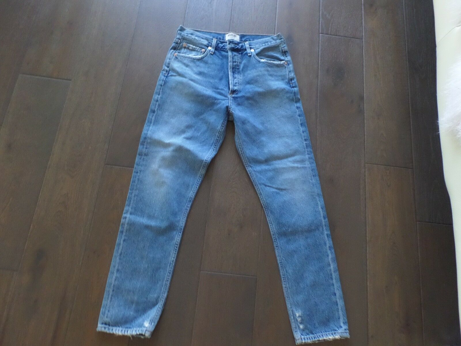 New Latest AG ADRIANO goldSCHMEID bluee denim high waisted classic fit size 28