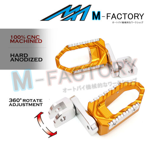 Fit CBR1100XX NC700 CBR600RR ABS 40mm Adjustable Front Rider Cruise Foot Pegs