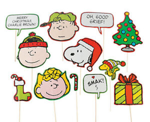 Christmas Charlie Brown.Details About Peanuts Photo Booth Props 12pcs Charlie Brown Snoopy Woodstock Lucy Christmas