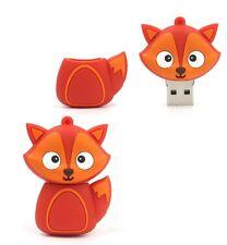 Cute Red Fox Animal Shape 16Gb Novelty USB Memory Stick Flash Drive Gift Present
