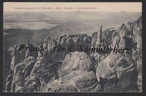 312 P Ansichtskarte AK Bei Schandau Schrammsteingebiet - Kette Sächs. Schweiz - Deutschland - 312 P Ansichtskarte AK Bei Schandau Schrammsteingebiet - Kette Sächs. Schweiz - Deutschland