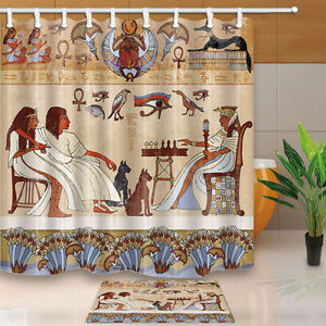 Ancient Egyptian murals Bathroom Shower Curtain Waterproof ...