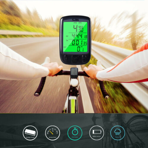 Wired Multifunctional Bicycle Speedometer Odometer With Waterproof LCD Display