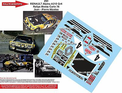 Decals 1//43 ref 2186 alpine renault a310 lamirault rallye monte carlo 1978 rally