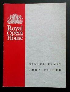 Samuel Ramey & John Fisher programme Royal Opera House Covent Garden 12/03/1989