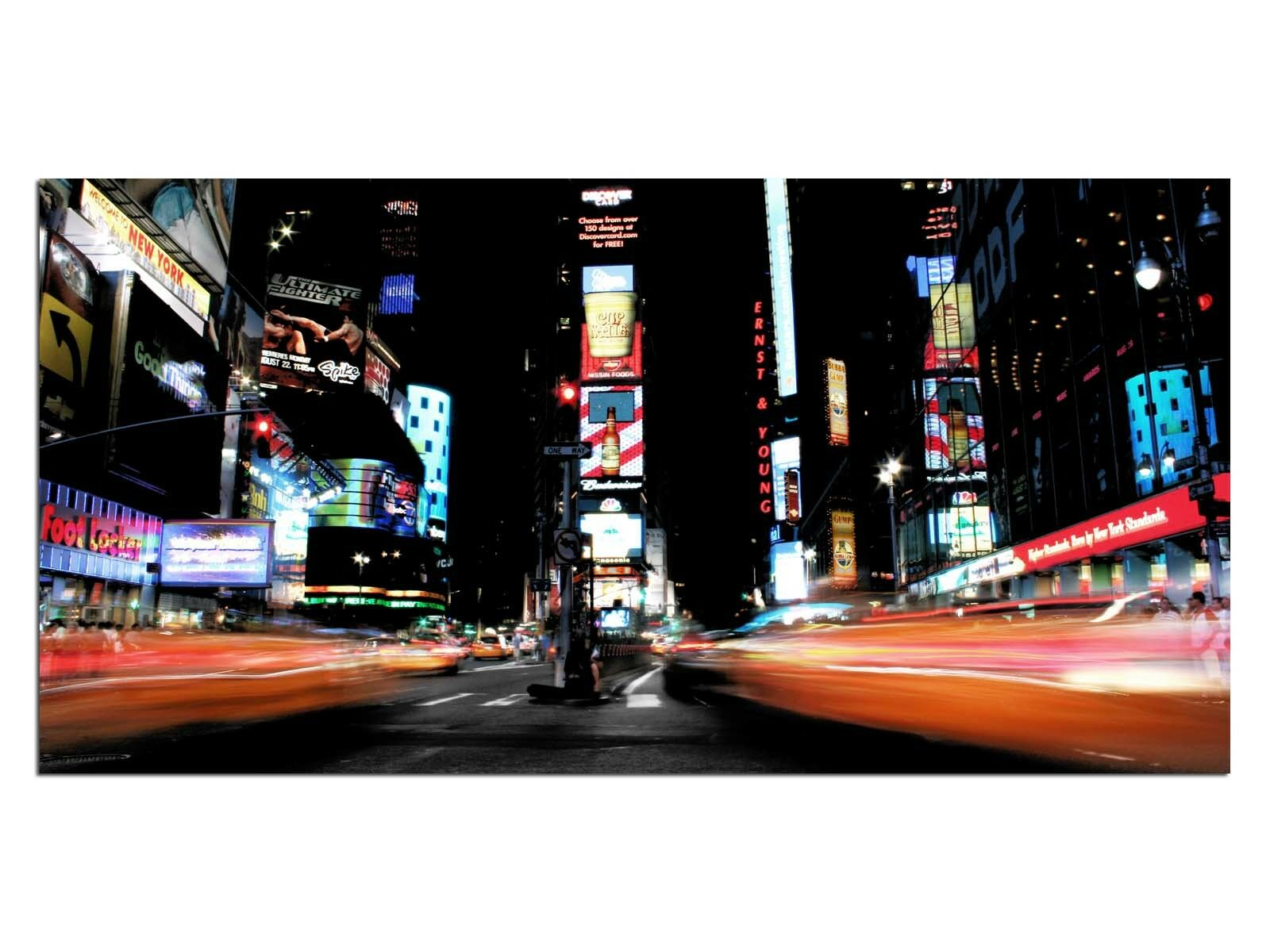 DECO image verre eg4100500911 times square, nyc Orange taille 39,37  x 19,68  hd