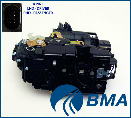 Passat B5 1998-2005 Front Left Door Lock Actuator Mechanism 8 Pin VW Bora