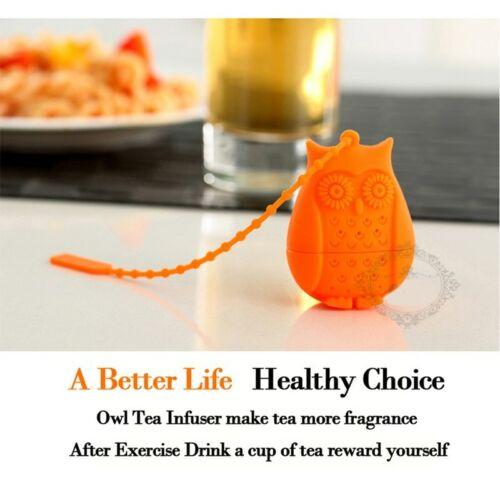 Tea Strainer Silicone Filter Coffee Tea Infuser Useful Owl Loose Tea Diffuser