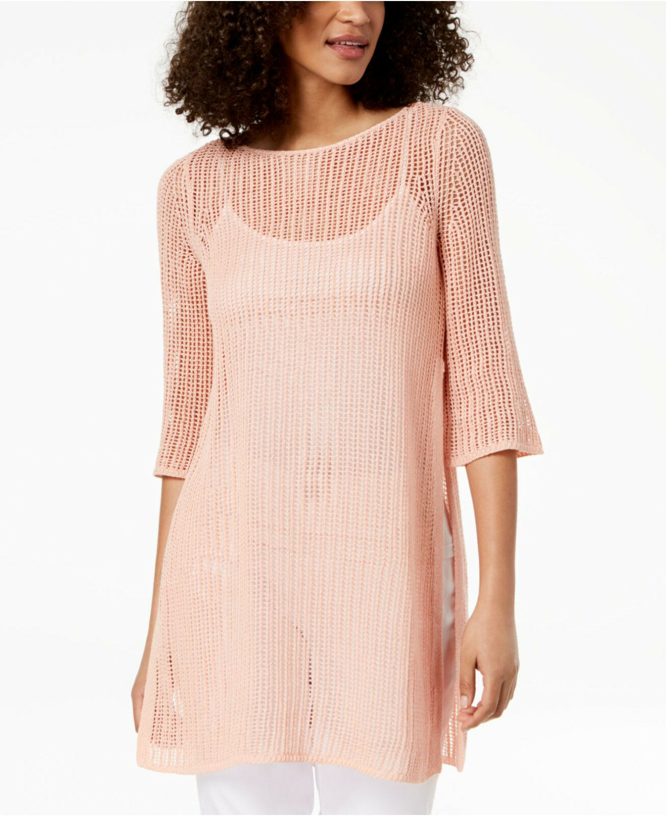 Eileen Fisher Petal Organic Linen Tunic Sweater
