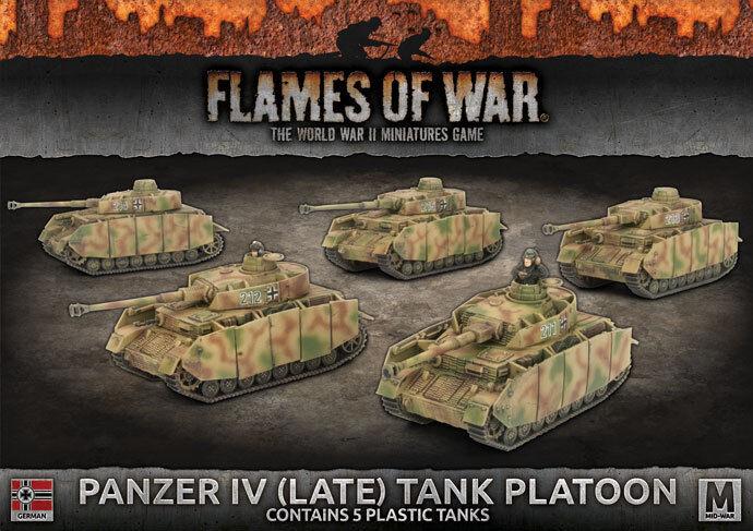 Flames of War BNIB Panzer IV (Late) Tank Platoon GBX121