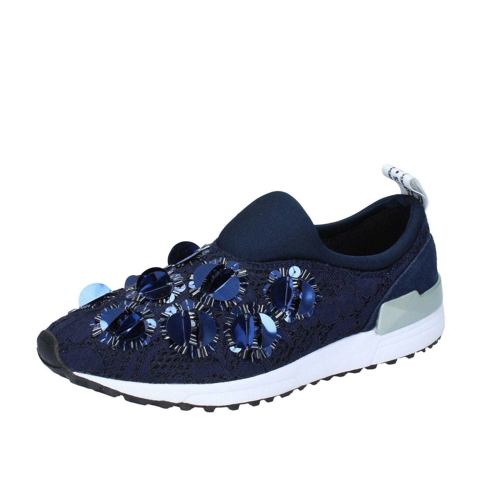 Femme Chaussures LIU JO 2 (UE 35) à Enfiler Bleu Textile BS662-35