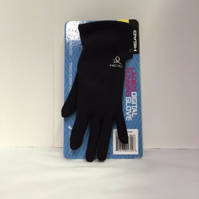 NWT Head Ladies Size SMALL S Digital Running Glove Gloves W//Sensatec Touch Black