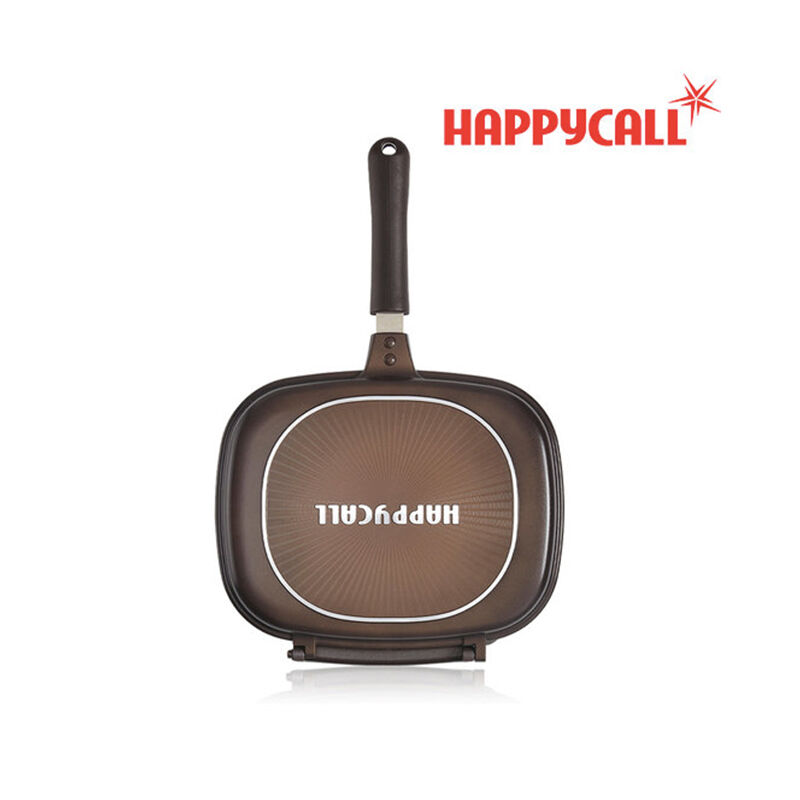 HAPPYCALL Jumbo Grill Double-Sided Pan Ceratinum Triple Coating Cookware 30cm