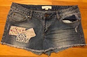 Forever 21 Denim 21 Talla 27 Pantalones Cortos De Mezclilla Dobladillo Deshilachado Para Mujer Ebay
