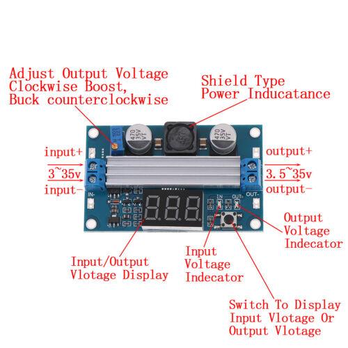 100W DC-DC LTC1871 Digital Boost Step up Adjustable Converter 3-35V to 3.5-35V