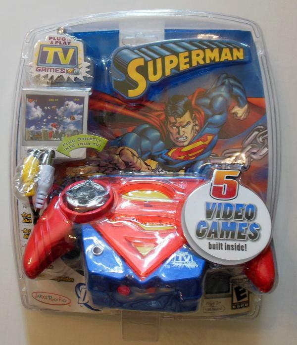 SUPERMAN PLUG & PLAY TV GAMES VIDEO GAME - 5 games - 2006 Jakks Pacific MIP