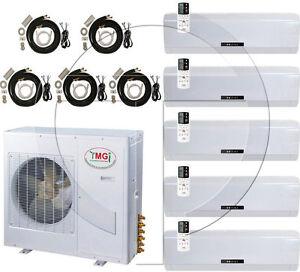 Quint 5 zone ductless mini split air conditioner heat pump for 18000 btu heat pump window unit