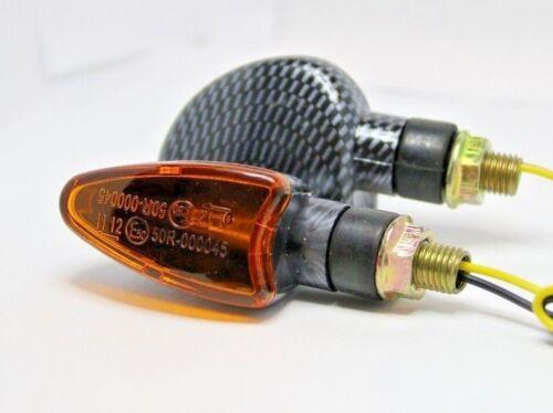 2X 21W YELLOW LENS CARBON TURN SIGNAL HONDA CBR 600 900 CR125R XR 250 R XL 400