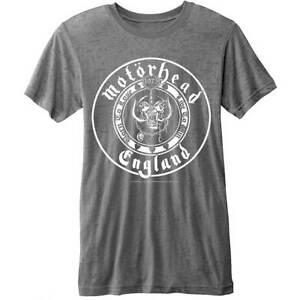 Motorhead England Seal  Men Burnout Grey T Shirt Official Merchendise!