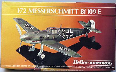 Prl) Messerschmitt Bf 109 E Montaggio Modellino Model 1-72 Plane Avion Heller Lieve E Dolce
