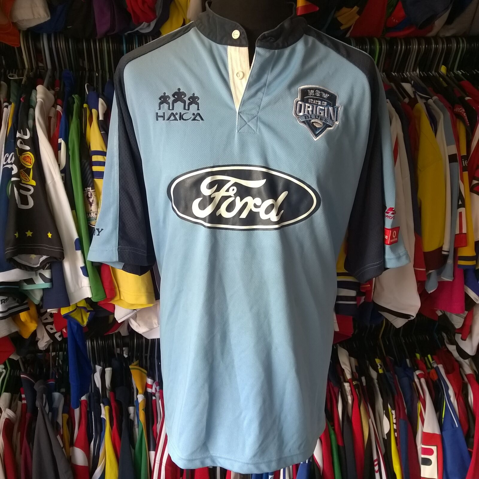 NEW SOUTH WALES HOME NRL LEAGUE RUGBY SHIRT FORD HAKA JERSEY SIZE ADULT 2XL