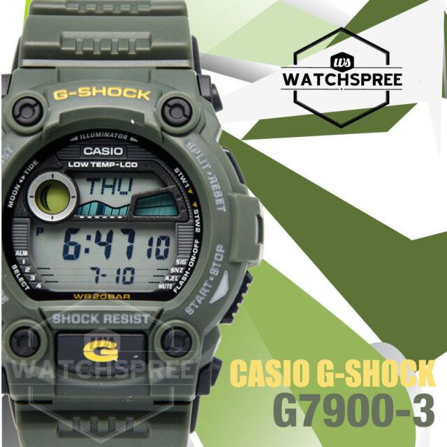 4bf6847665f8 Casio Digital Sport Mens G Shock Green Watch G-7900-3d for sale ...