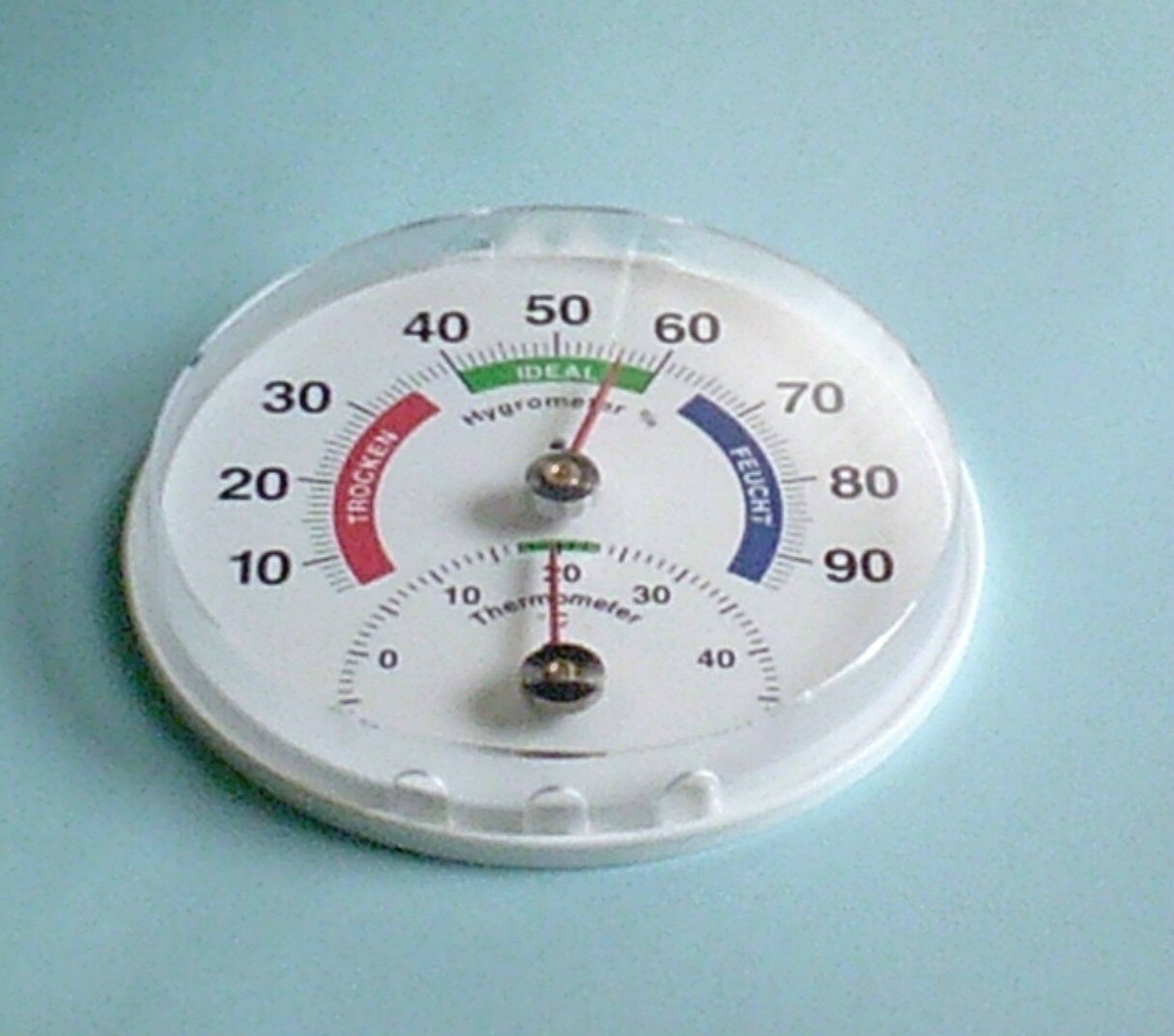 Humidity/ Hygrometer + Thermometer, Analog, Greenhouse, Home, Garden, 4.41 inch