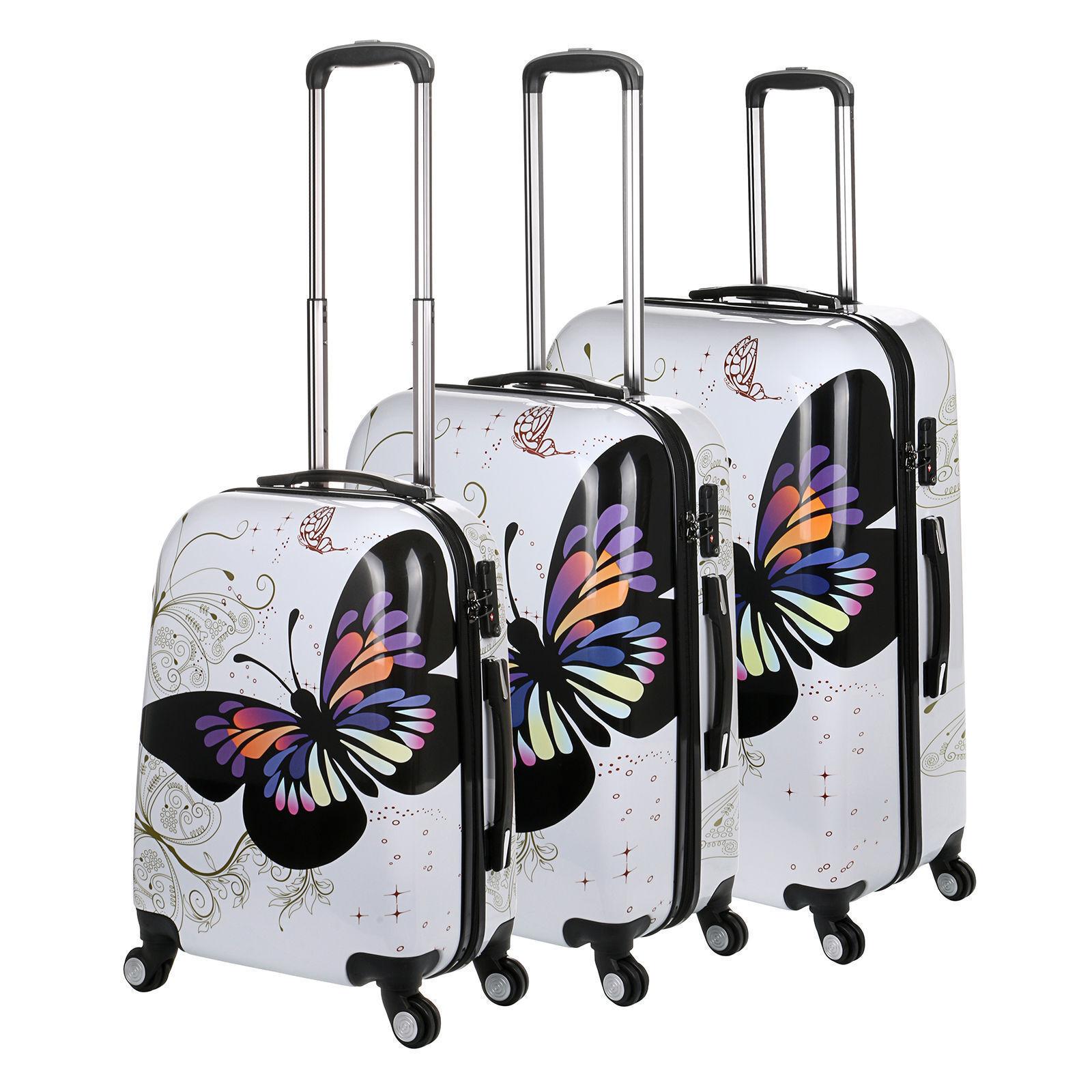 4 roues spinner Rigide Papillon Valise PC Chariot Bagage Cabine Cabine Bagage Étui Sacs da2cf0