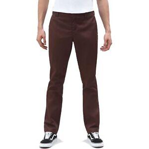 Dickies-872-Herren-Slim-Fit-Work-Pant-Chino-Cargo-Hose-Chocolate-Brown-Braun
