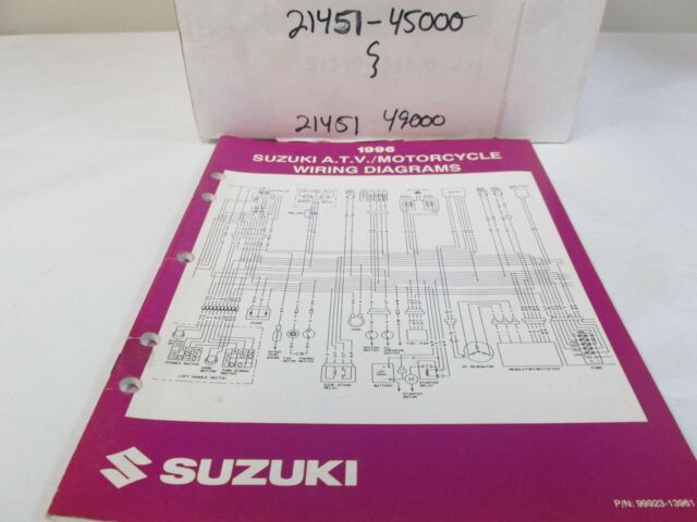 1996 Suzuki Atv Motorcycle Wiring Electrical Diagrams
