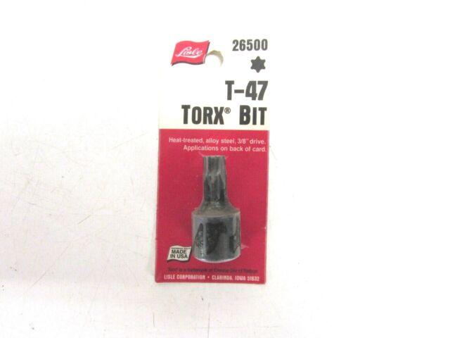 "LISLE 3//8/"" DRIVE TORX SOCKET T-47 AMERICAN MADE 26500"
