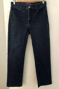 NYDJ-Women-039-s-size-8-Jeans-Stretch-Blue-Denim-Marilyn-Style-No-7317-Straight-Leg