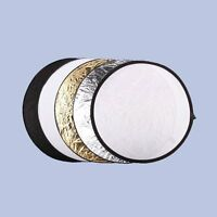 5 in1 80cm Light Mulit Collapsible disc for photography Panel Reflector diffuser