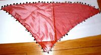 Red Egyptian Head Scarf With Coins Middle Eastern Belly Dance Women