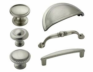 Beau Image Is Loading Amerock Satin Nickel Rope Cabinet Hardware Knobs Amp