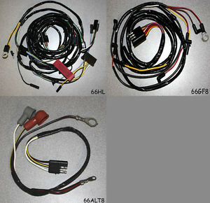new 1966 ford mustang under hood wire wiring kit gauge feed headlight alternator ebay. Black Bedroom Furniture Sets. Home Design Ideas